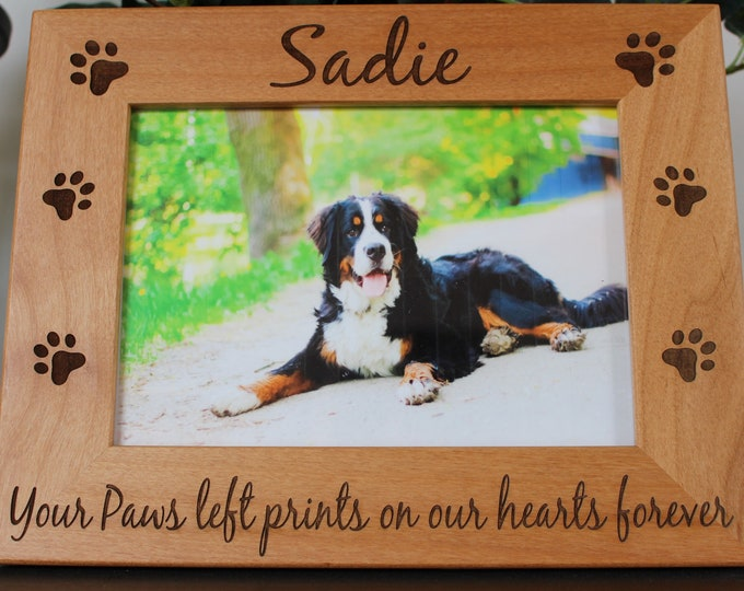 Pet loss frame-gifts-for pet loss of pet memorial frame-pet sympathy gift-dog cat loss-engraved pet frame-cat memorial-pet loss gift idea