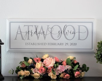 bridal shower gift for wedding-Bride groom gift-for her-Personalized engagement gift for couple-bride-last name wedding gift-unique wedding