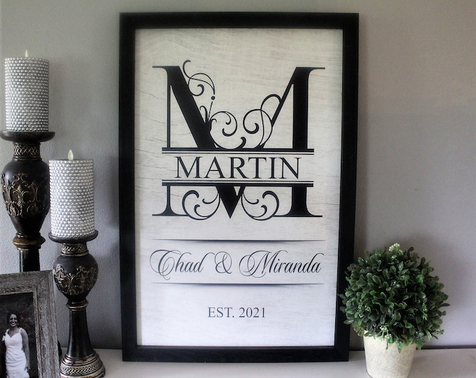 Wedding gifts personalized signs-bridal shower gift-established wedding sign-in wedding shower gift last name establish-sign wedding-custom
