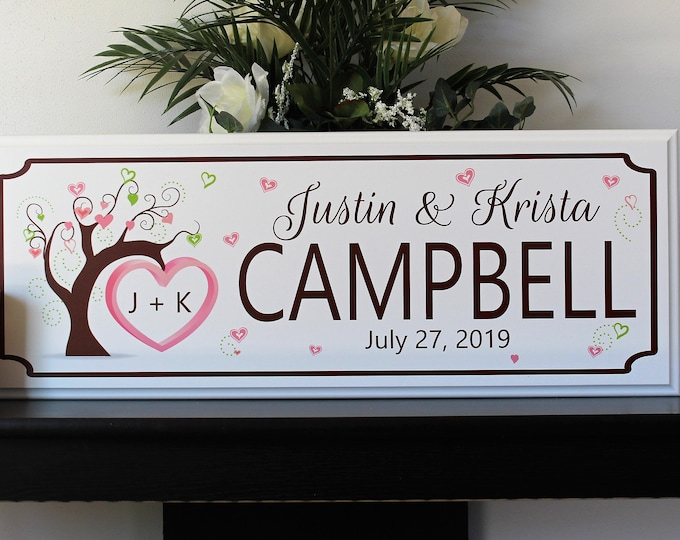Personalized wedding gift sign-for couple-gift for groom and bride-gift for wedding-last name established sign-wedding last name sign