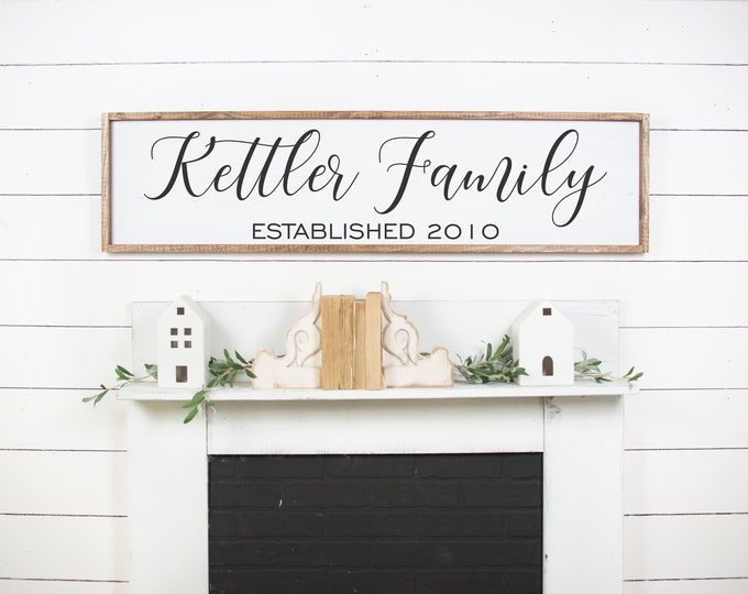 Family name sign wood personalized-home decor-Signs for home-mother's day gift-last name wood sign-established family sign