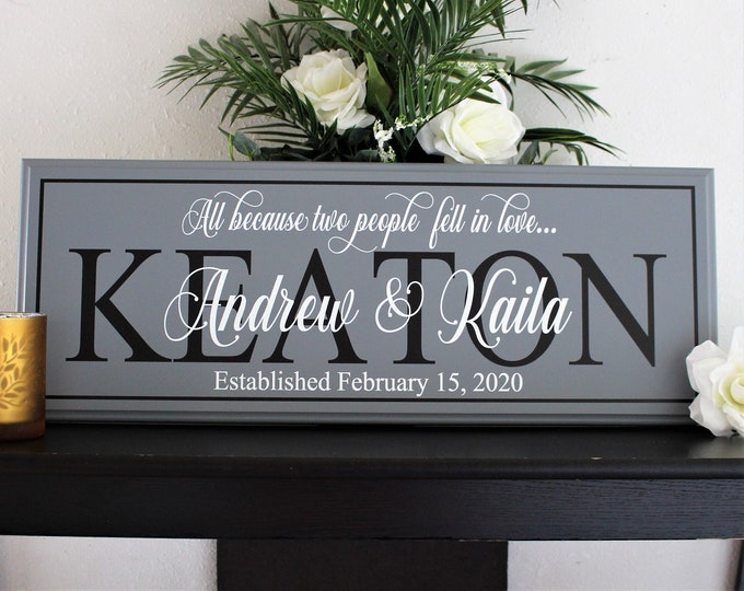 Custom wedding gift for couple-wedding decor sign-wedding gifts personalized signs-engagement gifts for couple-wedding established