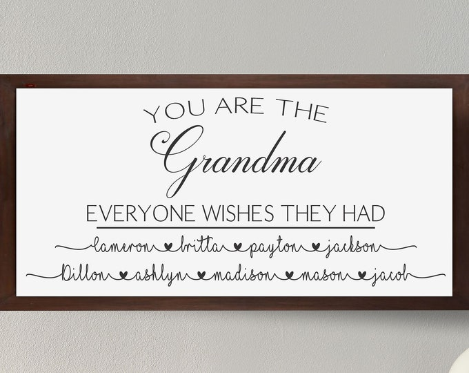 Personalized gift for Grandma Sign-grandchildren names sign-Gift for Nana Sign-Personalized Gifts for Mimi Gift