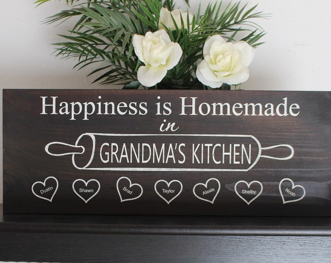 Gift for Grandma-gift personalized-grandma kitchen sign-grandmother christmas gifts-Grandma Wooden Signs-grandma house gift-wall decor