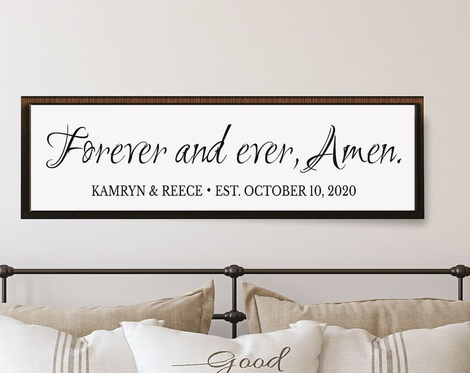 Wedding gifts personalized-master bedroom decor-master bedroom sign-reception decor-wall art-newlyweds-wedding photo prop