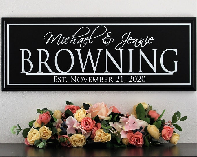 Wedding gifts personalized-wedding present personalized for couple-ideas for parents-bridal shower gift-wedding present couple name sign