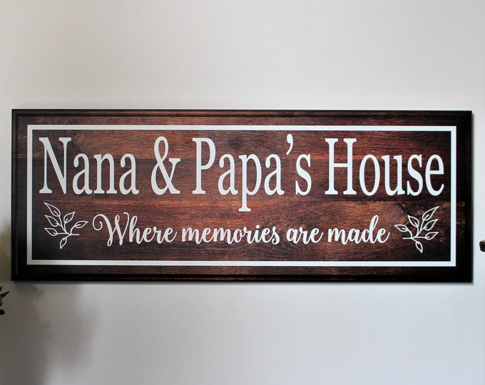 Personalized gift for Grandparents Sign-Grandma's House-Gift for Grandma Gift-Nana Sign-Personalized Gifts for Nana Gift-Nana and Papa Sign