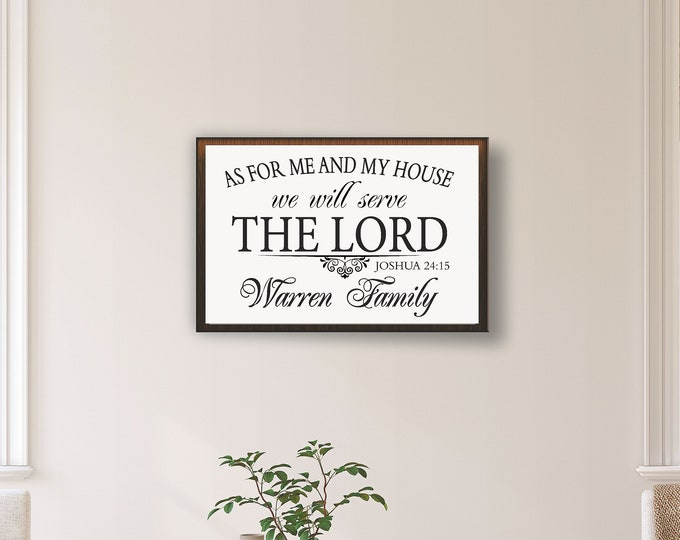 As for me and my house wood sign-Joshua 24 15 sign-christian gifts-christian home decor-religious gifts-scripture wall art-bible scripture