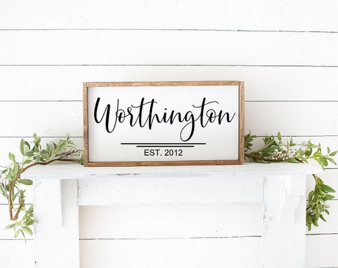 Personalized family sign wood-family name sign-family name wood sign-anniversary gift-farmhouse sign-family farmhouse-established