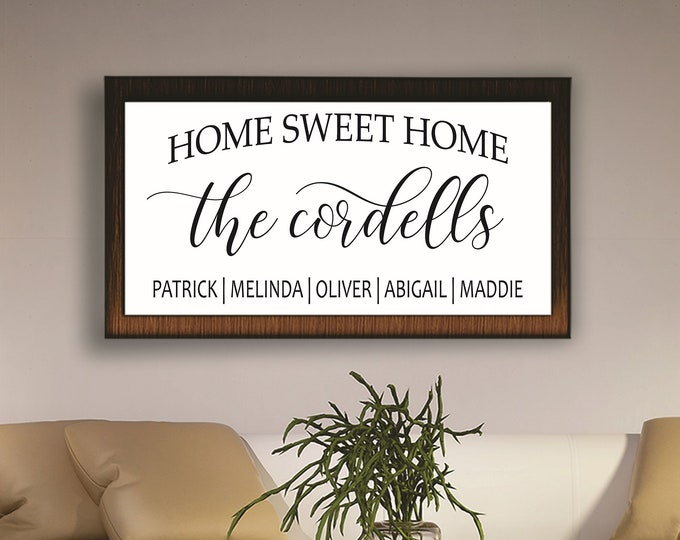 Home sweet home wood sign-New home housewarming gift- First home gift-new home sign-new homeowner-wall hanging-house warming-home decor