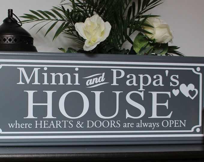 Mimi and papa sign-gifts for Mimi-Mimi gift-Mimi sign-nana gift-gift for nana-pop pop gifts for grandparents-parents-nana sign-grandma gift