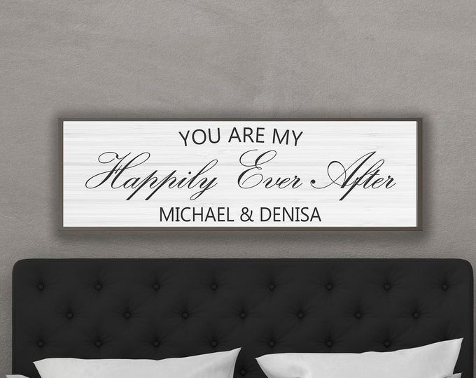 Master bedroom sign-couples gift for over bed-bedroom wall sign-master bedroom wall decor-wedding gifts sign