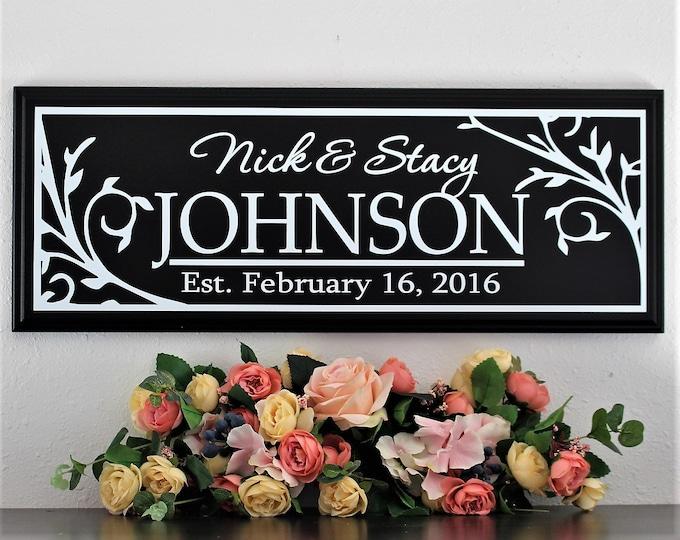 Wedding Signs last name-Gift for newlyweds wedding gifts personalized last name establish wood sign-unique wedding gifts established