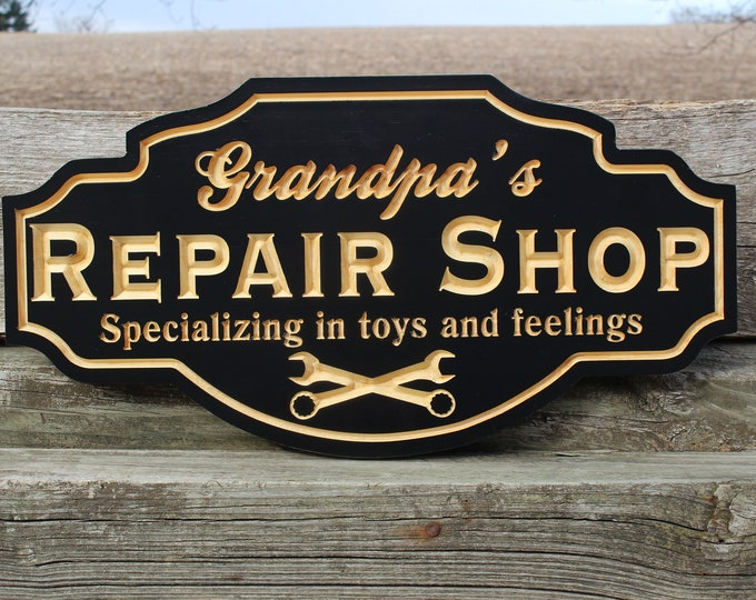 Grandpa gift-fathers day gift-dad gift for dad-grandfather gift-grandpa dad father birthday-gift for father-husband gift-repair shop