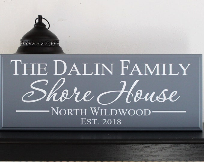 Shore House sign-gifts-personalized beach home cottage-sign for shore house-coastal-decor-items-plaque-beach house mantel sign-beach lover