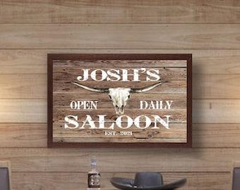 Personalized bar sign-custom bar sign-pub bar signs-home bar decor-wood bar sign-bar signage-neighborhood bar-groomsmen gift-fathers day
