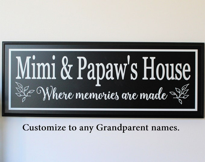 Gifts for grandparents-gifts for Mimi-Grandma Grandpa gift-Mimi sign-nana gift-gift for nana-pop pop-parents-nana sign