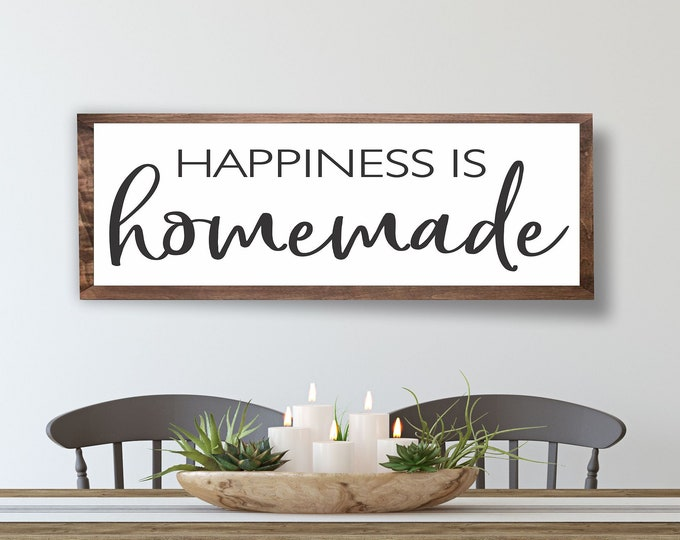 Kitchen Signs-Kitchen Wall Decor for kitchen-wall Art-dining room signs-Happiness is homemade sign-mothers day gift for grandma