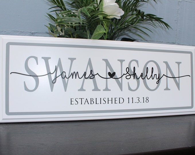 Personalized Wedding Gift for Couple-Established Wedding Sign-custom wedding gift-bridal shower gift-wedding gift last name establish