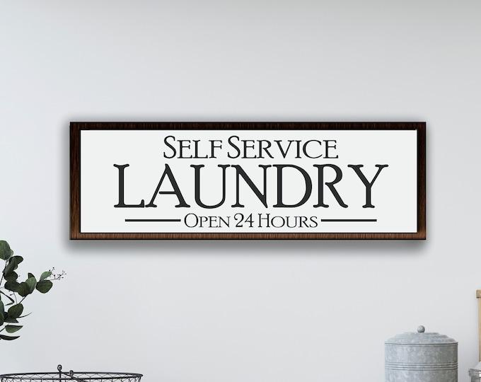 Laundry room wood sign-laundry room wall decor-farmhouse style sign-laundry wood sign-wall sign laundry room-housewarming gift-framed