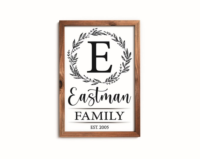 Personalized family name signs for home-wood-family farmhouse sign-mother's day gift-for parents-Custom name sign wood-family wall Hanging