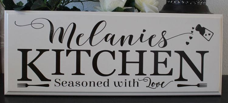 Charmant Personalized Kitchen Signs Gifts Decor Items Kitchen Decor Art Gift For Mom  Birthday Name Sign Gift For Cook Chef Custom Kitchen Sign