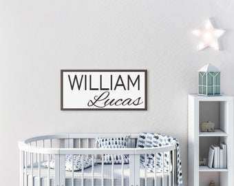 Baby's room decor-Baby name sign-Nursery sign-above the crib sign-above the crib decor-new baby gift-nursery wall art-nursery decor-girl-boy