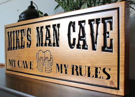 Afbeeldingsresultaat voor man cave sign