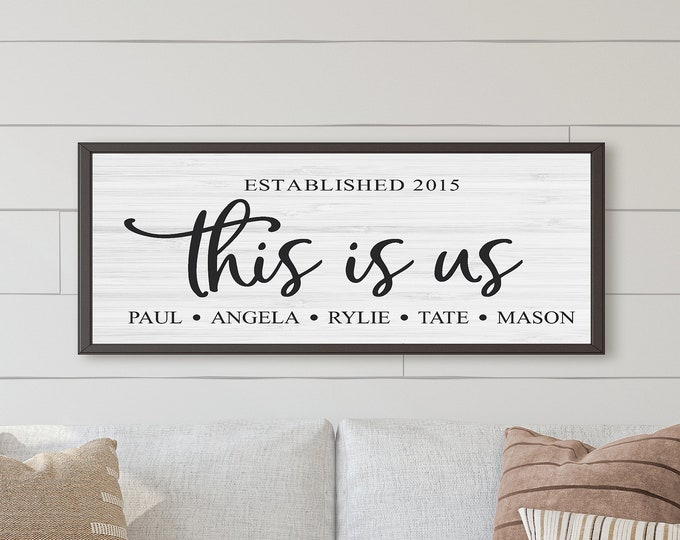 This is us wood sign-Our life our story our home-wood family sign-Personalized family name signs wood-family name plaque-hanging family sign