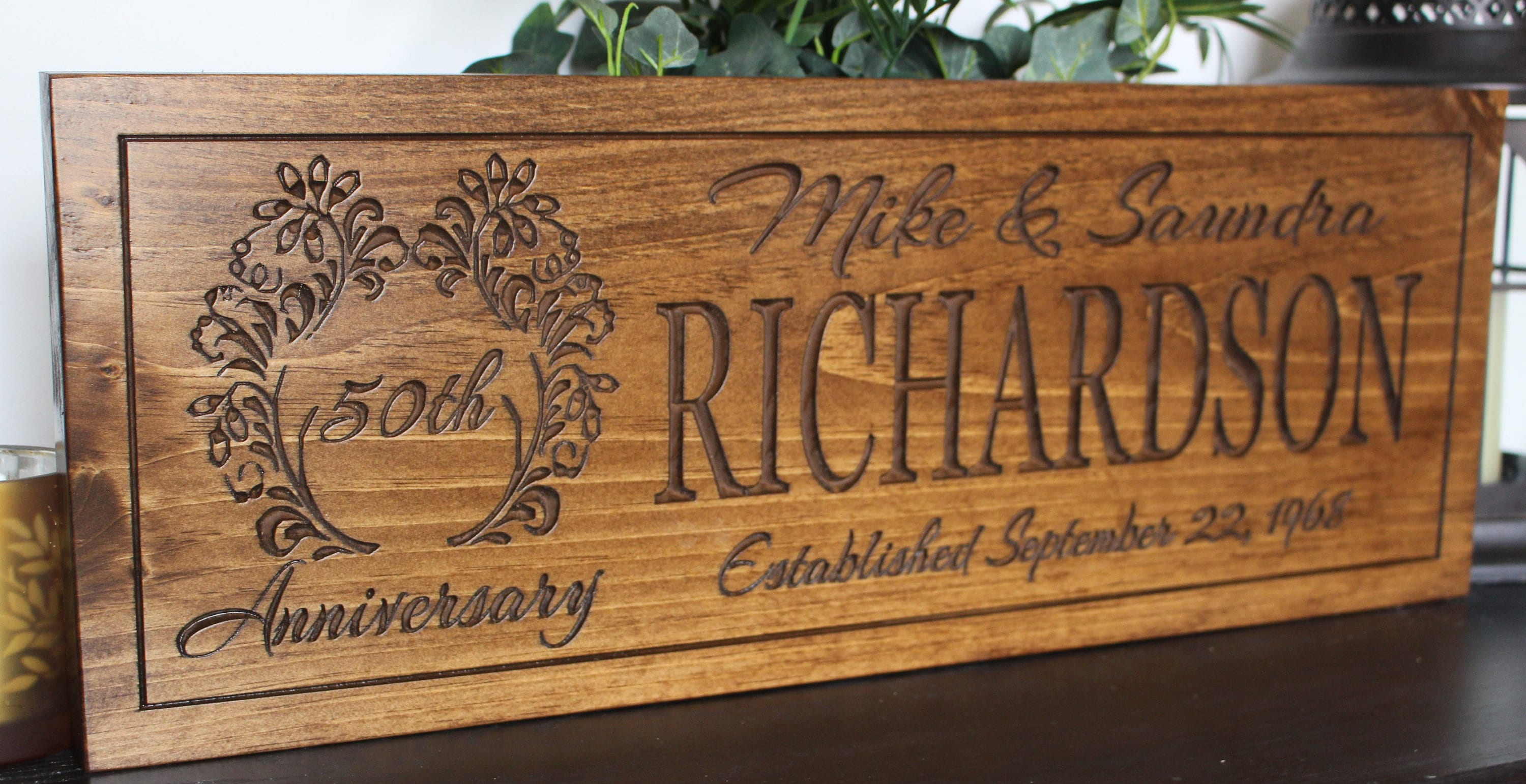 Personalised 50th Wedding Anniversary Gifts