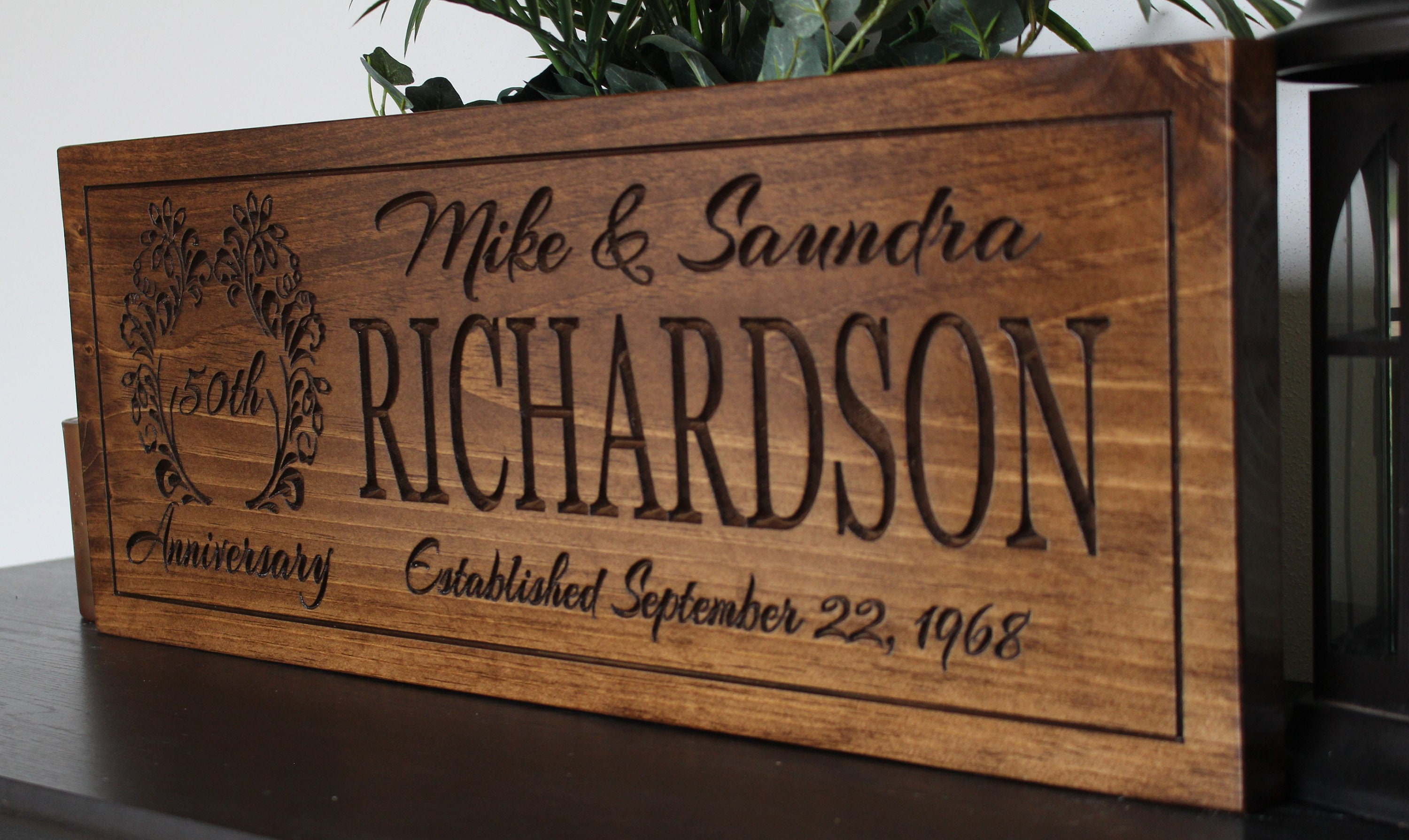 Fiftieth Wedding Anniversary Gifts: Personalized 50th Anniversary Gift For Parents-50th