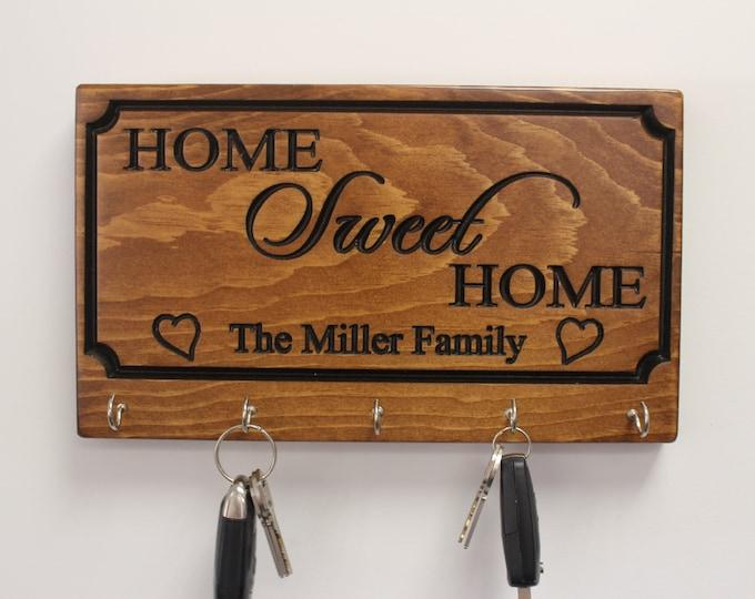 Personalized key holder for wall-key rack-for wall-key organizer-housewarming gift-custom car key holder-first home gift-wall mount key rack