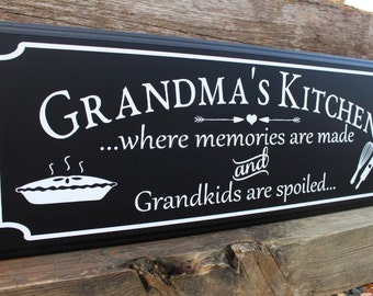 Grandma gifts-grandma's kitchen-gifts for mimi-mom-nana grandmother-gift from grandkids-gift for mom from daughter-where memories are made