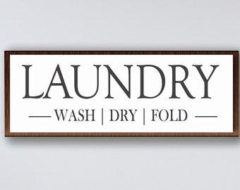 Laundry room sign-laundry room wall decor-farmhouse style sign-laundry wood sign-wall sign laundry room-housewarming gift-framed laundry