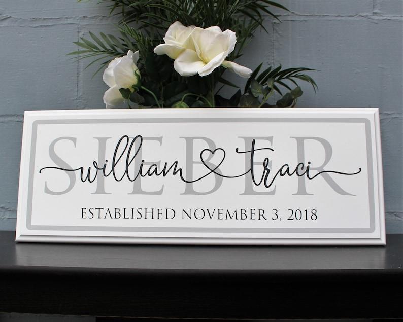 wood wedding gift signs