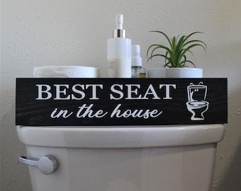 Bathroom decor box-toilet tank box-toilet storage box-best seat in the house box-toilet top box-toilet top decoration-back of toilet box-