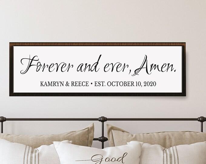 Wedding gifts personalized-master bedroom decor-master bedroom sign-reception decor-wall art-newlyweds-wedding photo prop