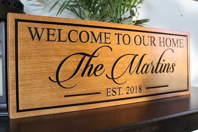 welcome signs personalized - 735×490