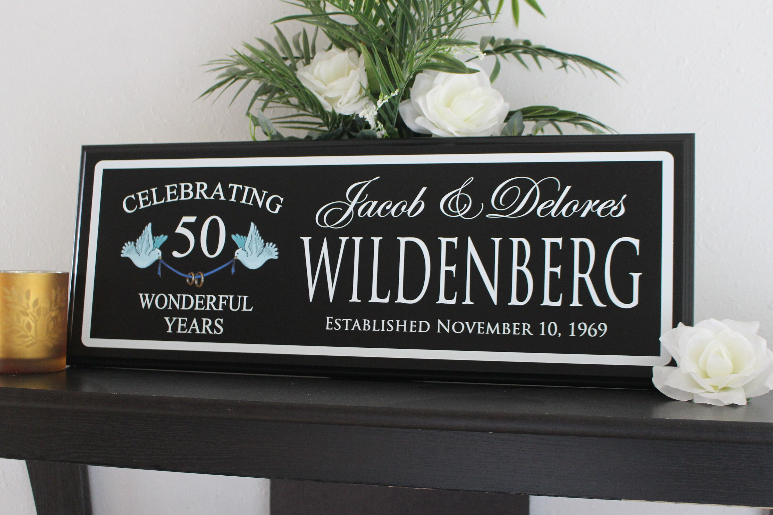 50th Anniversary Gifts Golden Anniversary Decorations Ideas