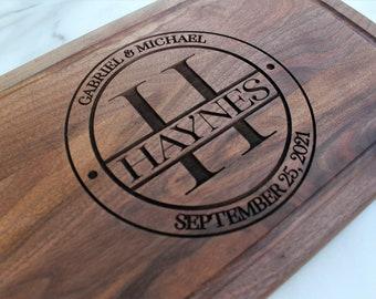 Wedding gift-wedding cutting board-engraved-personalized wedding gift-anniversary gift-wedding custom gift-wedding plaque-couple gift idea
