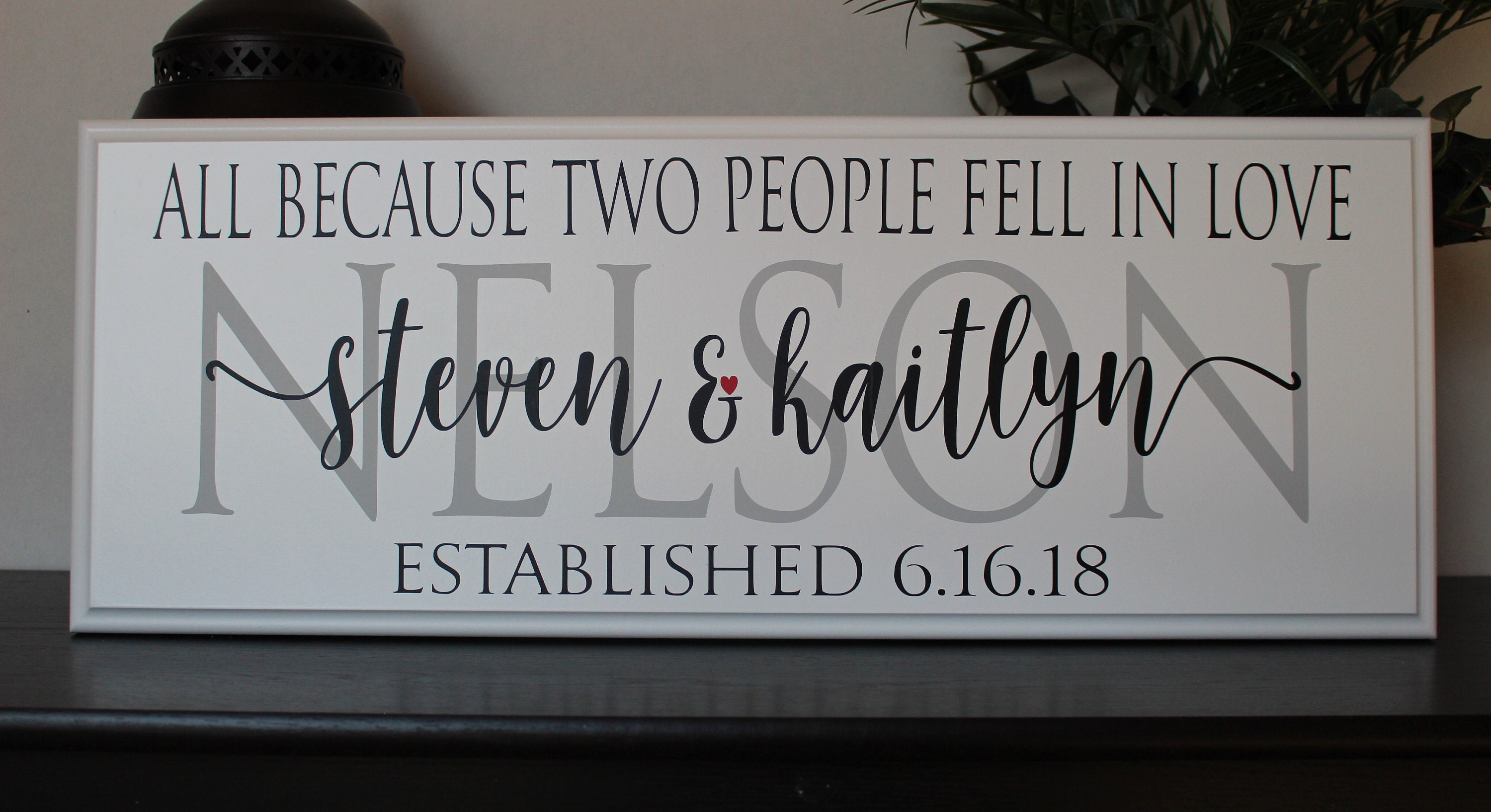 Monogram Wedding Gift Ideas: Personalized Wedding Gift Sign-for The Couple-gift Ideas