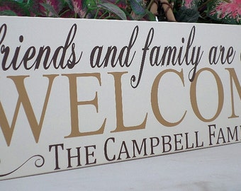 Welcome sign wood-personalized front door welcome sign-welcome