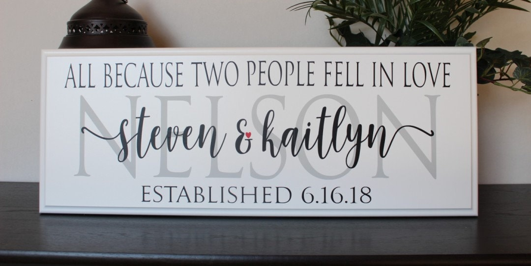 personalized wedding gift sign for the couple gift ideas bridal
