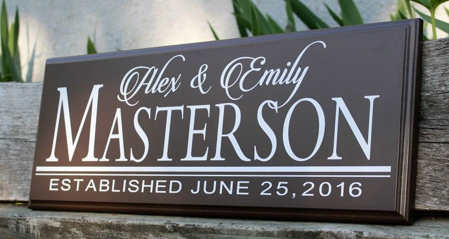 wedding sign wood wedding plaque bridal shower decorations personalized wedding sign gift wood sign established date wedding signage