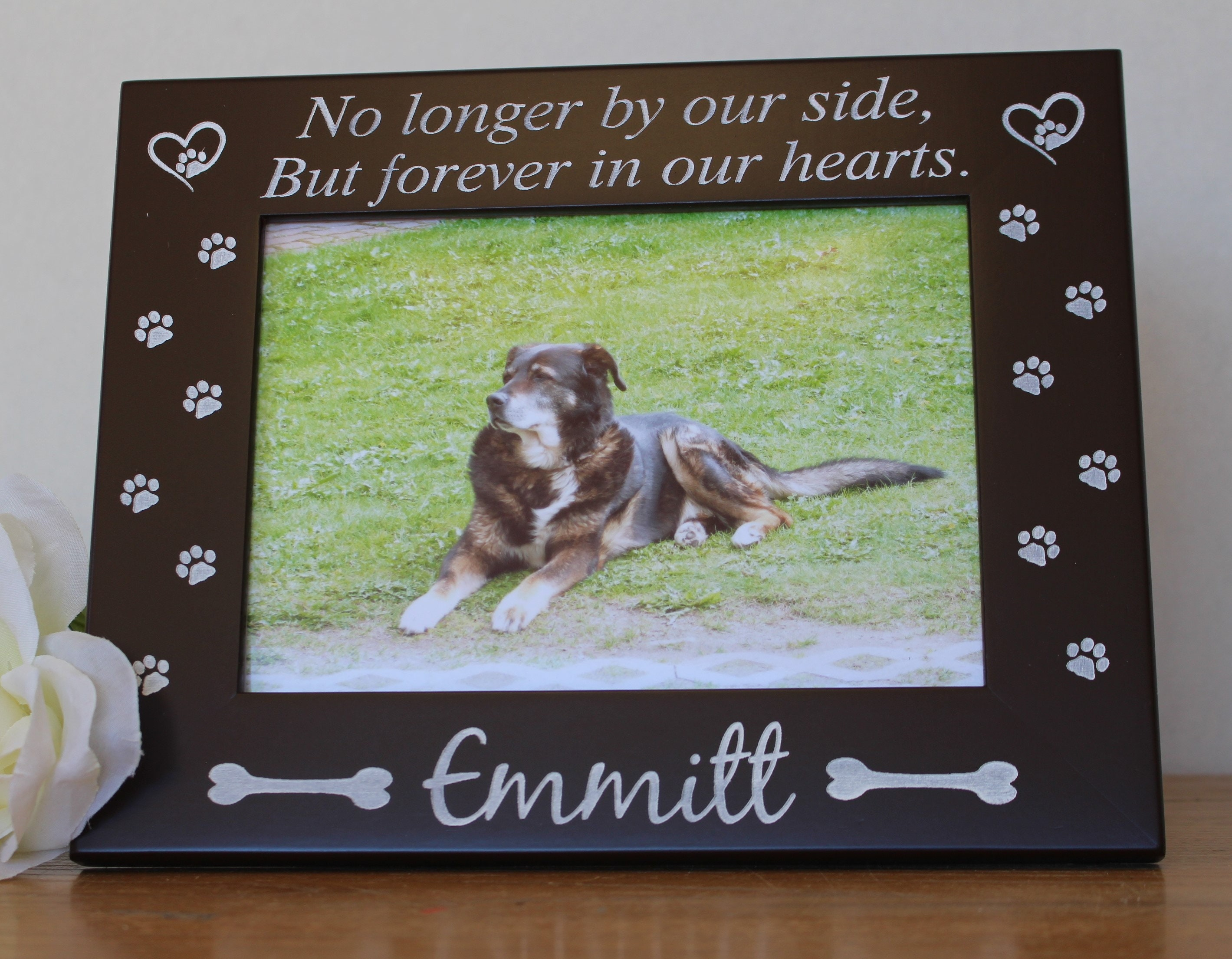 Pet loss frame dog loss picture frame-personalized-pet loss dog ...
