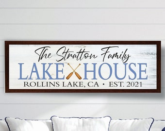 Personalized Lake house sign-gifts-decor-wood lake house established sign-custom lake house sign-lake house wall art-housewarming gift