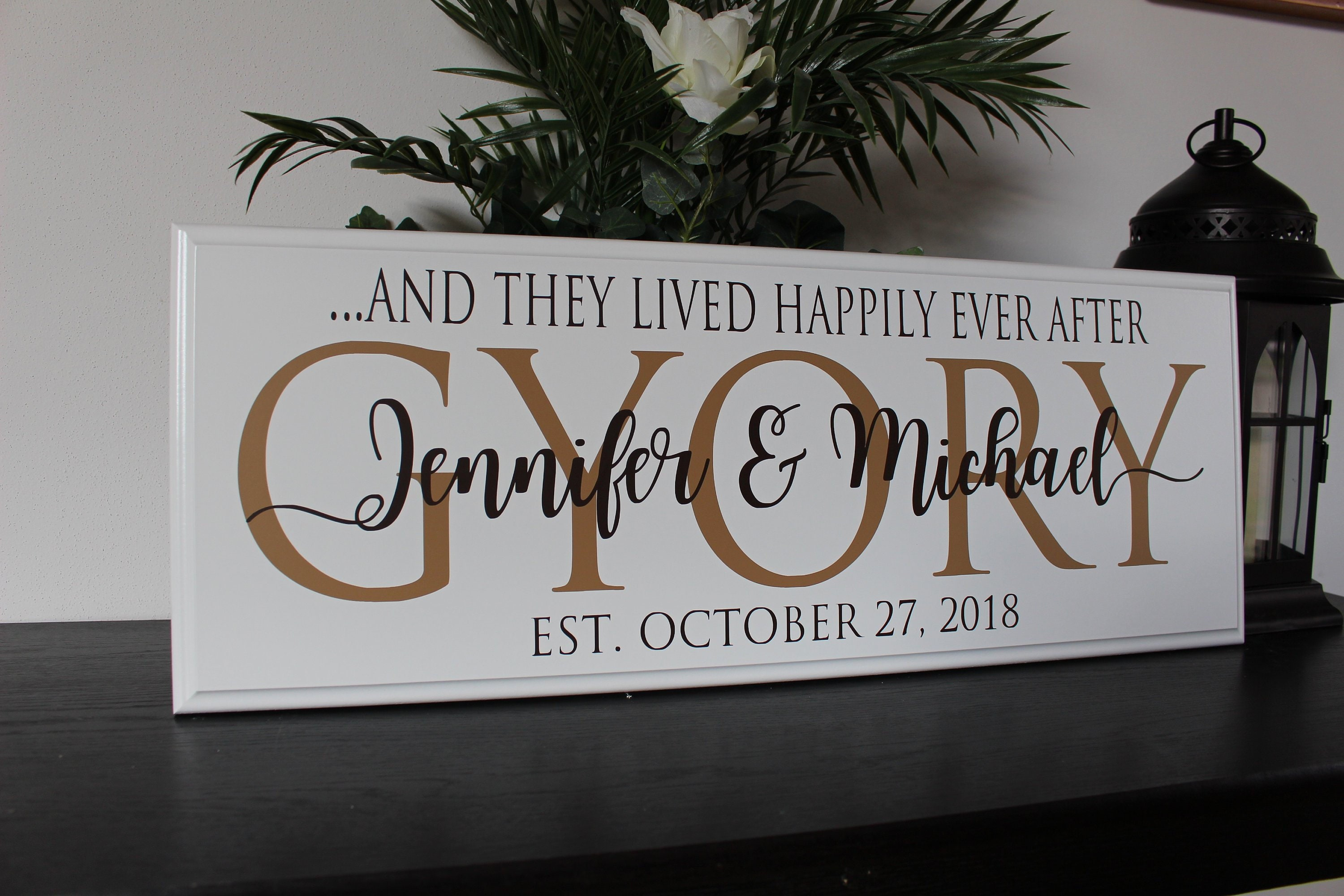 Personalized Wedding Gift For Couple Engagement Gift For Wife Bridal