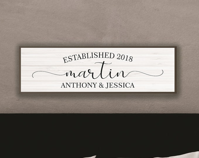Wedding gifts personalized-master bedroom wall decor-custom wedding gift-for him-couple name wall sign-sign for wedding