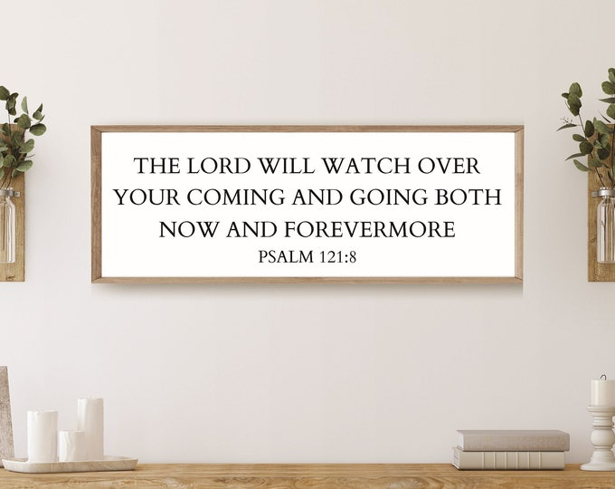 Scripture wall art-foyer decor- sign-bible verse wall art-entryway sign-new home gift-psalm 23 sign-christian home decor-