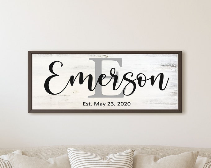 Family name sign-wall decor-last name-for the home-personalized living room-family sign large-Family gift-parents gift-home-gift for wife